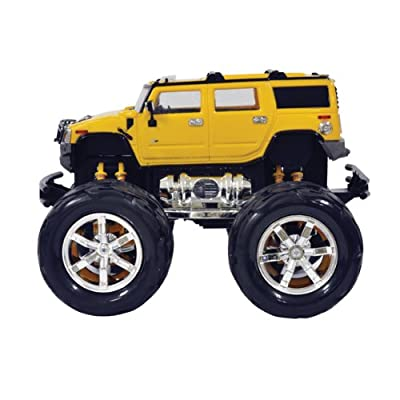 1:26 Scale Hummer with Monster Truck Wheels, Yellow Size 0
