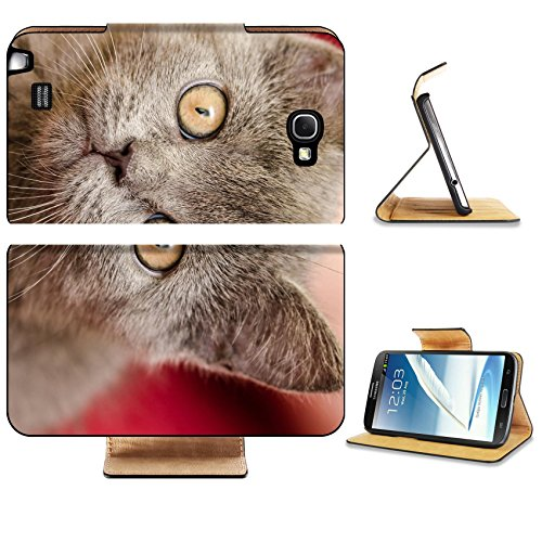 Samsung Galaxy Note 2 Flip Case British Short Hair Cat Photo 20858451 by Liili Customized Premium Deluxe Pu Leather generation Accessories HD Wifi Luxury Protector