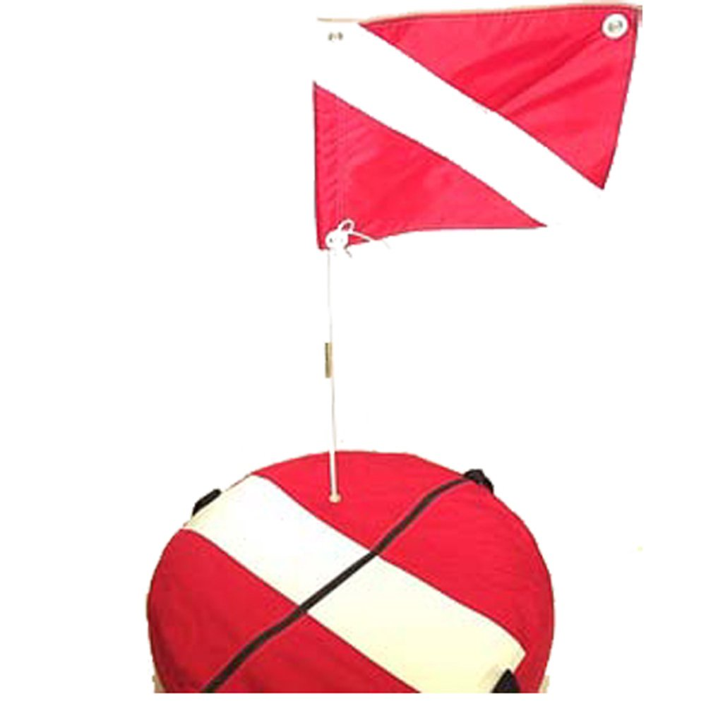 JCS Complete Cordura Nylon Scuba Dive Float Assembly. Includes Inner Tube & 14inch x 18inch Dive Flag & Staff by JCS