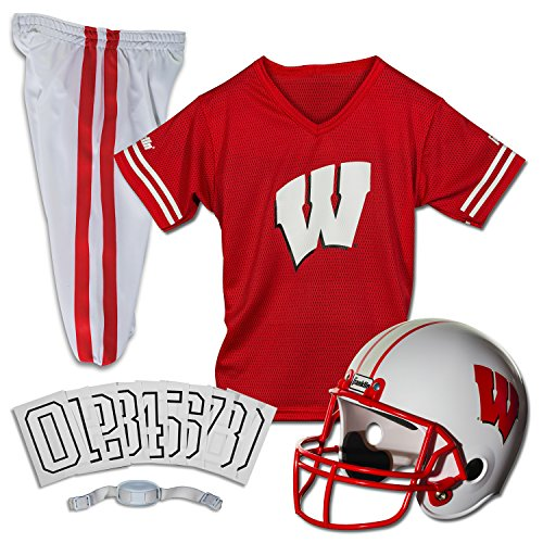 Franklin Sports NCAA Wisconsin Badgers Deluxe Youth Team Uniform Set, Medium
