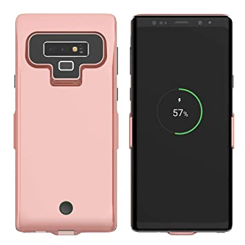 Funda Bateria Samsung Galaxy Note 9, LifeePro Ultra thin 7000mAh Recargable Externa Portátil Batería Cargador Pack Power Bank Ultra Fina Integrada ...