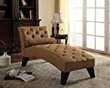 NHI Express Mila Chaise Lounge, 61 by 26.5 by 32'', Brown