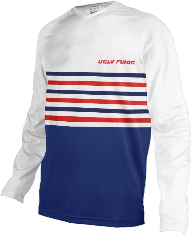 Uglyfrog 2020 Sport Cycling Element MX Jersey Enduro Cross Motorrad Motocross//MTB//Mountain Bike Wear Downhill Rundhals Shirt Herren Thermo Winter Sports Wear DEHerDownMKZR03