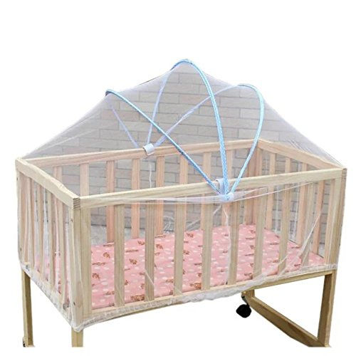 Rainbowkid New Foldable Baby Kids Infant Nursery Bed Crib Canopy Safty Arch Mosquito Net Netting Play Tent House,For Nursey Baby In 0-3 Years