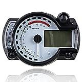 15000RPM Universal Motorcycle Digital LCD km/h MPH Speedometer Odometer Tachometer Gauge for 8-22 inch wheel