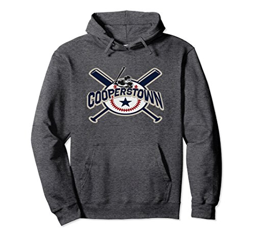 Unisex Cooperstown New York Baseball Game Family Vacation Hoodie Small Dark (Cooperstown Long Sleeve)