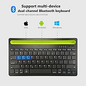 dual channel keyboard bluetooth wireless keyboard for iphone samsung huawei xiaomi. Black Bedroom Furniture Sets. Home Design Ideas