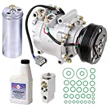 New AC Compressor & Clutch With Complete A/C Repair Kit For Honda Civic 1.7L - BuyAutoParts 60-80229RK New