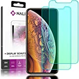 NALIA (2-Pack) Screen Protector compatible with iPhone X XS, 9H Full-Cover Tempered Glass Smart-Phone Protective Display Film, Durable LCD SaverProtection, Shatter-Proof Front - Transparent Clear