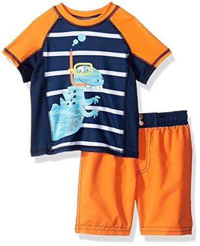 Baby Buns Boys Two Piece Snorkle Friends Rashguard Swimsuit Set, Multi, 24M