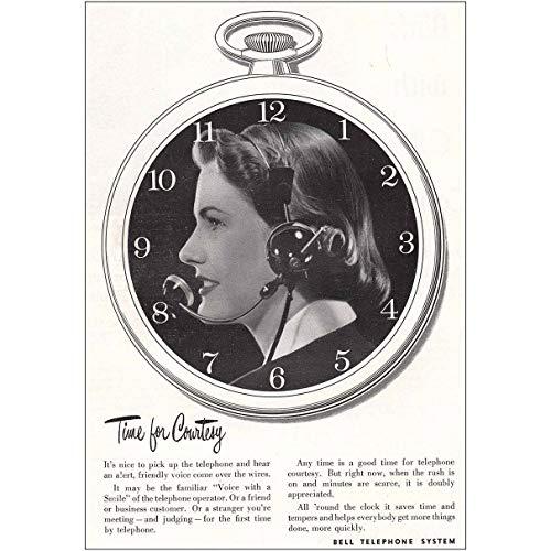 Courtesy Telephones (RelicPaper 1952 Bell Telephone: Time for Courtesy, Bell Telephone Print Ad)