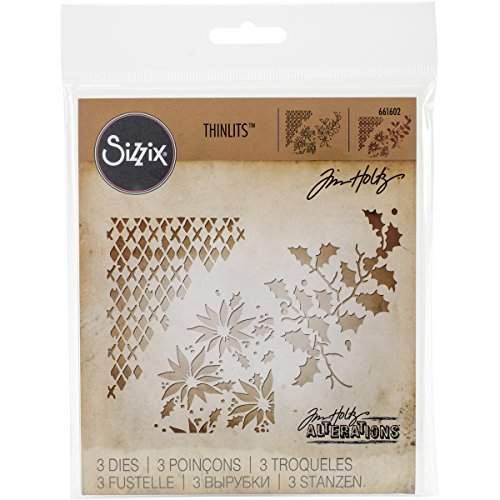 Sizzix Thinlits Dies, Mixed Media Christmas by Tim Holtz, 3 Pack ()