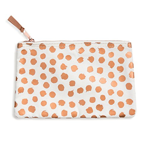 Designworks Ink Pouch with Zipper, Copper Dots (Zipper Dot)