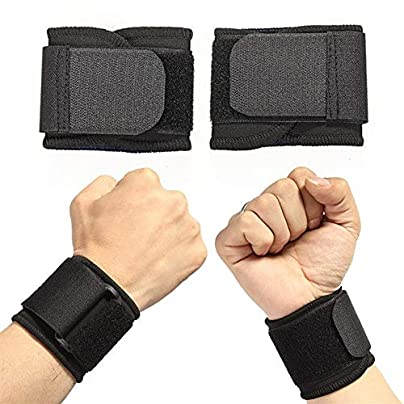 HUOYAN Protective Wrist Support Adjustable Weight Lifting Elastic Soft Pressurized Wristband Volleyball Tennis Durable Sports Estimated Price £16.01 -
