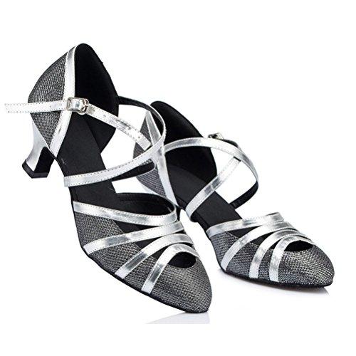 7 Tango Con Ballo Tacco Scamosciata 9 Black Scarpe Suola nbsp;cm Da Pratica Salsa Latina Misu HqPUYaBca