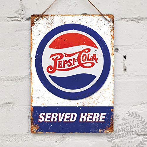 Pepsi Cola Replica Vintage Garage Kitchen Americana Tin Sign Metal Sign TIN Sign 7.8X11.8 INCH