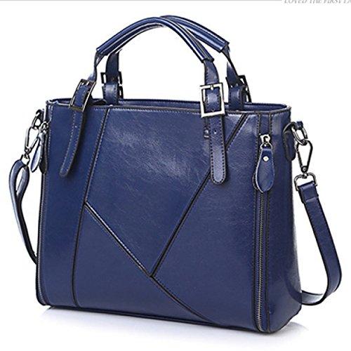 Sra. Bolso Bandolera Bolsa De Mensajero Azul