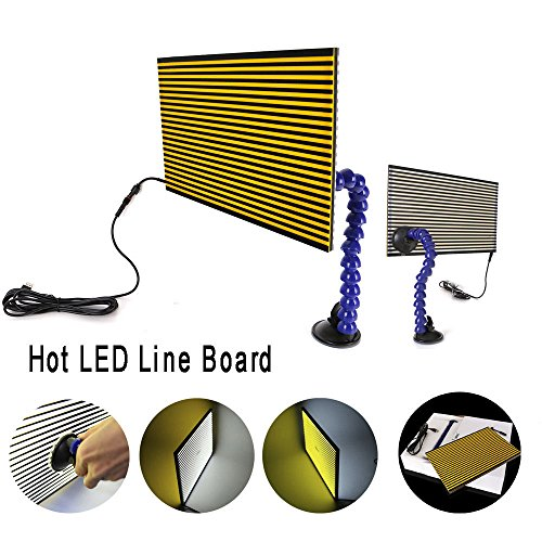 Board Line (MMPP Paintless Dent Repair LED Line Board Double Stripe Reflector Board With Adjustment Holder Light Line Board For Dent Repair)