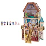 KidKraft Belle's Enchanted 3 Floor Wooden Pretend Play Dollhouse + Doll Family