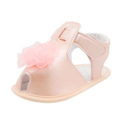 6fd16a555d732 Lanhui Infant Sandals Baby Girl Solid Lace Crib Shoes Soft Sole Anti ...