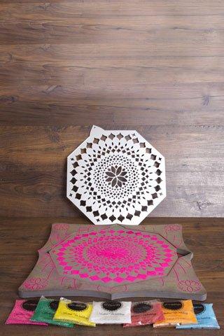 Lotus Flower Rangoli Board Maiyan Ceremony Package Amazoncouk