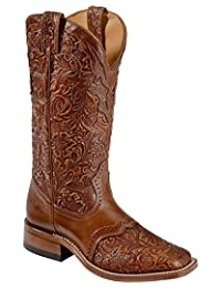 Boulet Western Boots Womens Cowboy Belmont Whiskey Tan Brown 2015