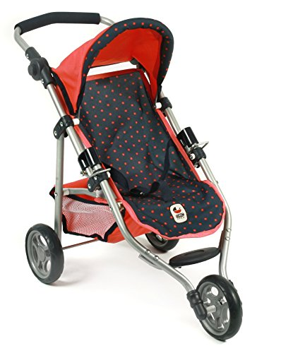 Bayer Chic 200061211–Lola Jogging Buggy, Dots, Blue/Coral