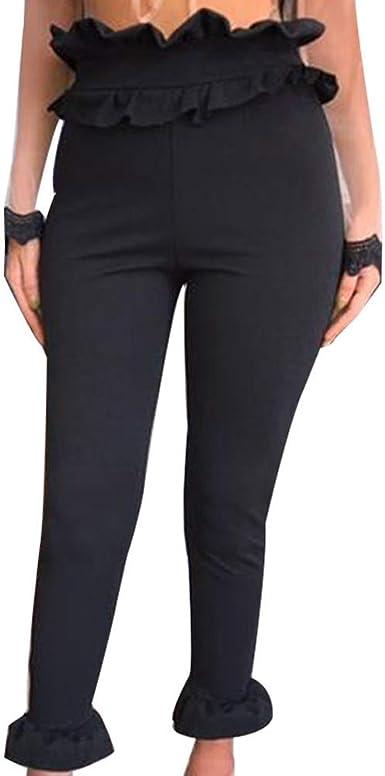 Littleice Women High Waist Harem Pants Vertical Slim Trousers Womens Bowtie Elastic Waist Casual Pants