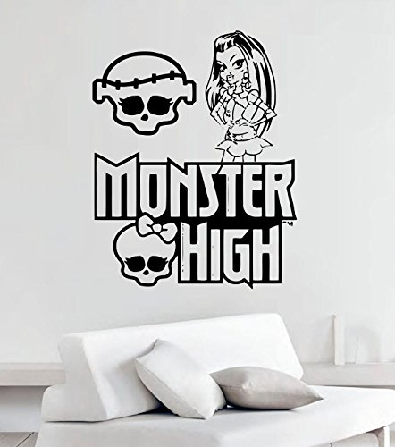 Monster High Vinyl Wall Decals Cartoon Decor for Children's Rooms Vinyl Sticker Murals MK4309 (Monster High Room Stickers)