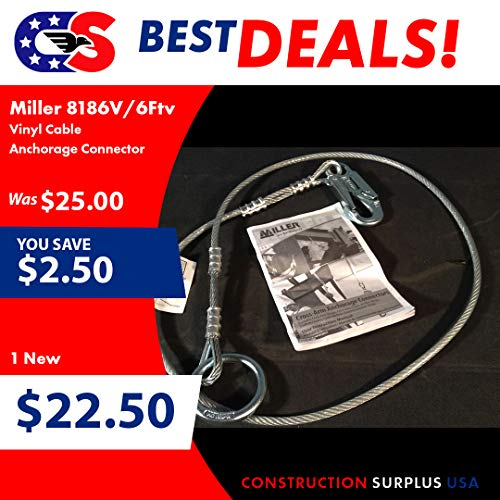 - Miller by Honeywell 8186V-Z7/6FTV Vinyl Cable Anchorage Connector, 6'