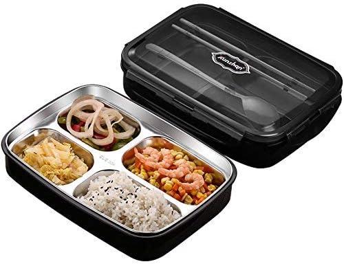 Kvdfcwmxqyjnoe Acero inoxidable aislamiento bento caja de comida rápida comida prep envases microondas seguro reutilizable térmico estanco Fiambrera Para niños y adultos-azul A 1100ml: Amazon.es: Hogar