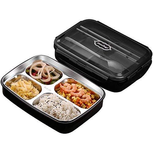 Kvdfcwmxqyjnoe Acero inoxidable aislamiento bento caja de comida ...