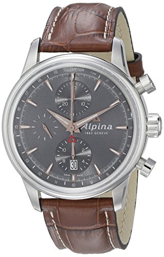 Alpina Men's AL-750VG4E6 Alpiner Chronograph Analog Display Automatic Self Wind Brown Watch
