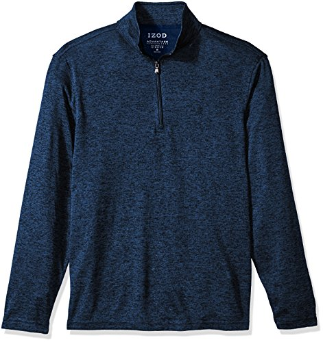 IZOD Mens Advantage Performance Solid 1/4 Zip Fleece