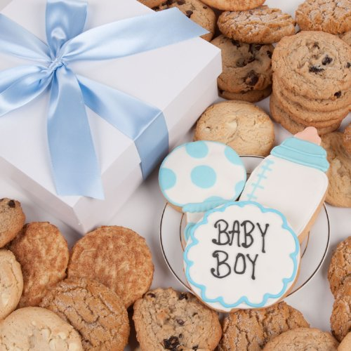 Baby Boy Fortune Cookies - It's A Boy! Signature Cookie Gift Box- 12 Pc.