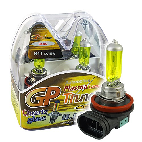 GP THUNDER 3500K H11 55W Golden Yellow Light Bulbs for Fog Light -High Beam - Low Beam SGP35K-H11 PAIR