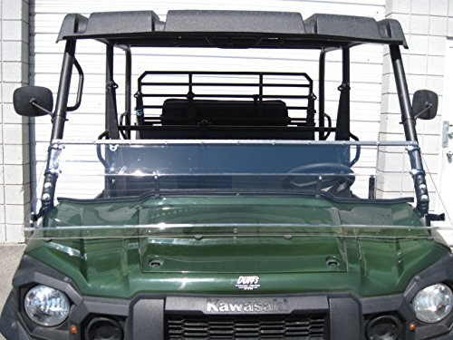 Kawasaki Mule Pro Series 2015 and Newer FULL-TILT WINDSHIELD. We need to know what kind of roof you have Hard or Soft? Check email/junk file for message after order is placed by UTV Windshields and Accessories (Image #1)