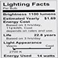 Philips LED Dimmable A21 Light Bulb with Warm Glow Effect 1100-Lumen, 2200-2700-Kelvin, 14-Watt (75-Watt Equivalent), E26 Base, Frosted, Soft White, 6-Pack (California Residents Only)