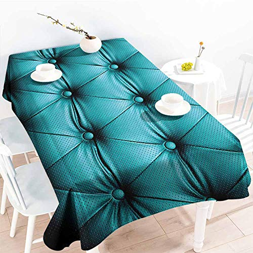 - Homrkey Elegance Engineered Tablecloth Turquoise Decor Collection Buttoned Couch Sofa Bed Headboard Leather Cover Luxurious Upholstery Art Dark Teal Picnic W50 xL80