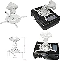 Amer Networks Universal Ceiling Projector Mount - White AMRP100
