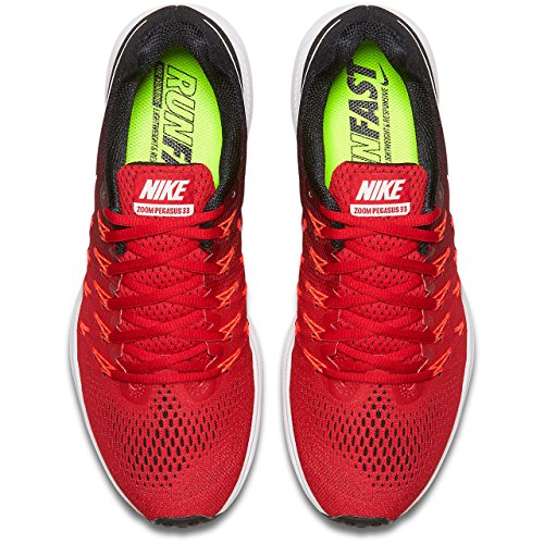 Nike Air Zoom Pegasus 33, Zapatillas de Running Para Hombre UNIVERSITY RED/WHITE-BLACK