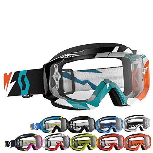 Scott Hustle Asymmetric Goggles - Blue/Pink/Clear Works / One Size - Asymmetric Buckle