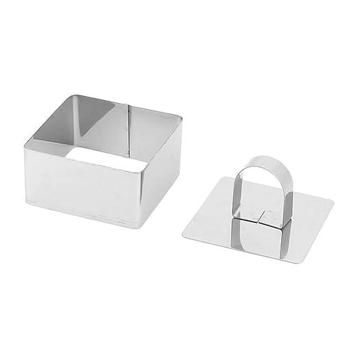 Amazon.com: DealMux Praça de metal em forma Mold Mold da cozinha da padaria Pão, Bolacha, Bolo Cortador: Kitchen & Dining