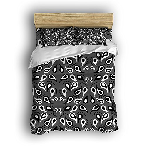 Family Decor Home Bedding Sets Tadpole Geometry Style Print Bedspread Sets For Lovely Teen Girls 4 Pcs Comforter Sets Duvet Cover, Flat Sheet, Shams Set 4Pieces,Gray and - Tadpoles Coverlet