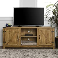 New 58 Inch Barn Door Television Stand with Side Doors