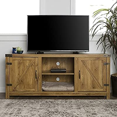 """Home Accent Furnishings New 58 Inch Door Television Stand with Side Doors (58 Inch, Barnwood) - Item ships within 1 business day! Any order that is received before 12:00 noon MST will ship out same business day!! OVERALL DIMENSIONS - (Left to Right) 58"""" L x (Front to Back) 16"""" W x 25"""" H SIDE SHELF DIMENSIONS - (Left to Right) 16"""" L x (Front to Back) 13 3/4"""" D, MIDDLE SHELF DIMENSIONS - (Left to Right) 20 3/4"""" L x (Front to Back) 13 3/4"""" D - Adjustable Shelving - tv-stands, living-room-furniture, living-room - 519URdI0uKL. SS400  -"""