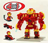 4 in 1 - Avengers Age of Ultron Iron Man/Hulkbuster Nanoblock Minifigure Lego Toy