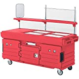 Cambro Kiosk 4P-Htred (KVC854158) Category: Vending Carts