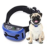 WOLFWILL 4 Mode No Bark Collar - 7 Level Sensitivity Vibration Shock Beep Rechargeable Digital Display Waterproof Anti-Bark Dog Training Collar