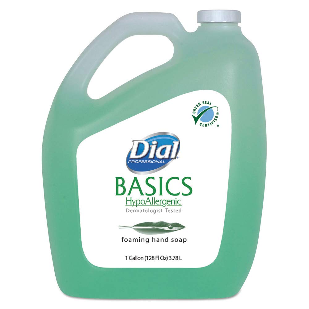 Dial Professional DIA 98612 Basics Foaming Hand Soap, Original, Honeysuckle, 1 Gal Bottle, 4/carton